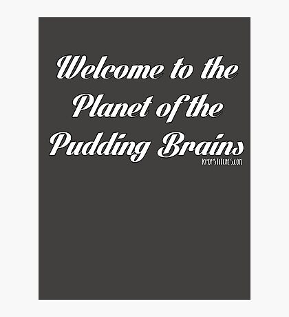 Doctor Who - Planet of the pudding brains! 12th Doctor Peter Capaldi Photographic Print