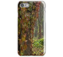 red and green ivy on trees iPhone Case/Skin