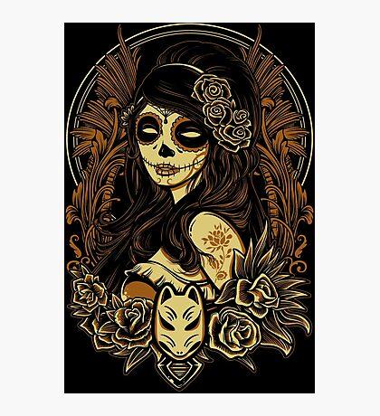Night of the Kitsune Mask Photographic Print