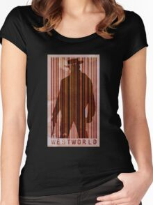 westworld boy poster Women's Fitted Scoop T-Shirt