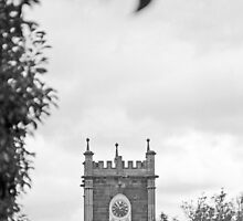 Clock Tower—St Johns Church, Newtown Tasmania by Brett Rogers