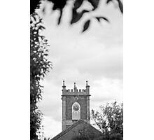 Clock Tower—St Johns Church, Newtown Tasmania Photographic Print