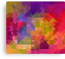 Bright Colorful Geometric Abstract Canvas Print