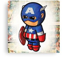 """Comic Cap"" POOTERBELLY Canvas Print"