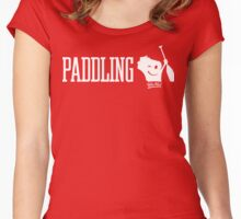 Paddling Wis-Kid (White) Women's Fitted Scoop T-Shirt