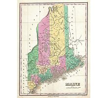 Vintage Map of Maine (1827)  Photographic Print