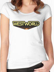 sticker westworld Women's Fitted Scoop T-Shirt