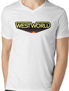 sticker westworld Mens V-Neck T-Shirt