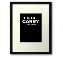 The AD Carry Framed Print