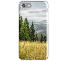 large meadow with herbs,  trees in mountain area iPhone Case/Skin