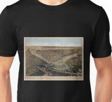 082 Brooklyn Bird's eye view of the City of New York Williams Burg NYPL Unisex T-Shirt