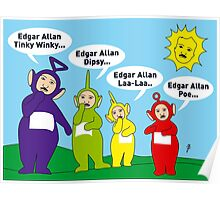 Teletubbies Edgar Allan Poe Card Poster