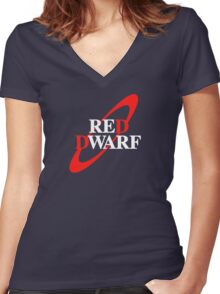 Red Dwarf Women's Fitted V-Neck T-Shirt