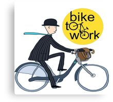 disney,cartoon,bike go to work Canvas Print