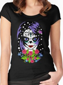 Cousin Alicia sugar skull Women's Fitted Scoop T-Shirt