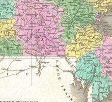 Vintage Map of Massachusetts (1827) Sticker