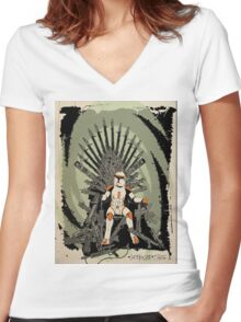 Game of Clones Women's Fitted V-Neck T-Shirt