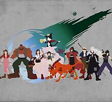 Final Fantasy VII Characters by tylerboyco
