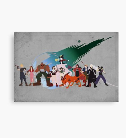 Final Fantasy VII Characters Canvas Print