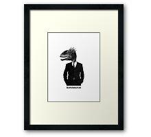 The Saurus Society - No Extinction Theory - Suitosaurus Framed Print