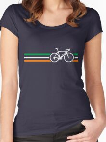Bike Stripes Irish National Road Race v2 Women's Fitted Scoop T-Shirt