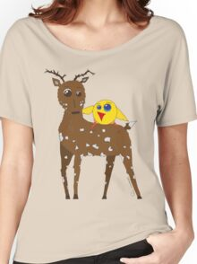 Diego the Deer and Yellow Bird Women's Relaxed Fit T-Shirt
