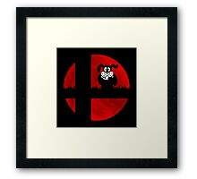 Smash and Laugh (red) Framed Print