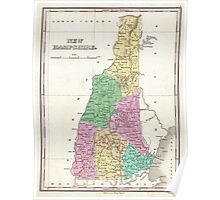 Vintage Map of New Hampshire (1827) Poster