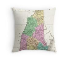 Vintage Map of New Hampshire (1827) Throw Pillow
