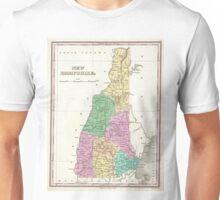 Vintage Map of New Hampshire (1827) Unisex T-Shirt