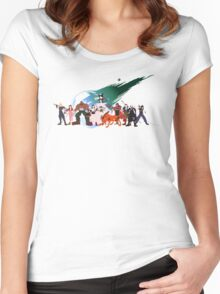 (NO BACKGROUND) Final Fantasy VII Characters Women's Fitted Scoop T-Shirt