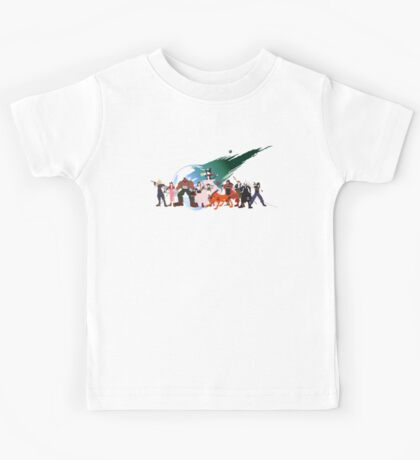 (NO BACKGROUND) Final Fantasy VII Characters Kids Tee