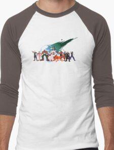 (NO BACKGROUND) Final Fantasy VII Characters Men's Baseball ¾ T-Shirt