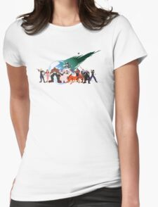 (NO BACKGROUND) Final Fantasy VII Characters Womens Fitted T-Shirt