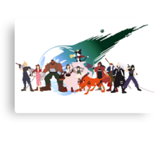 (NO BACKGROUND) Final Fantasy VII Characters Canvas Print