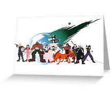 (NO BACKGROUND) Final Fantasy VII Characters Greeting Card