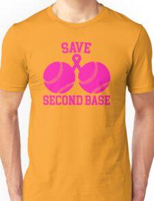 Save Second Base- Proceeds to Benefit Susan G. Komen Unisex T-Shirt