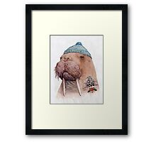 Tattooed Walrus Framed Print