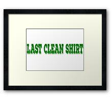 Funny Shirt Title Unisex Framed Print