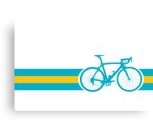 Bike Stripes Kazakhstan Canvas Print