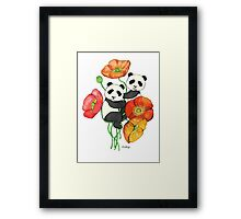 Poppies & Pandas Framed Print