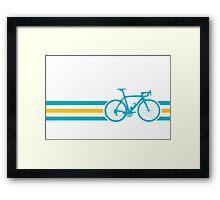 Bike Stripes Kazakhstan v2 Framed Print