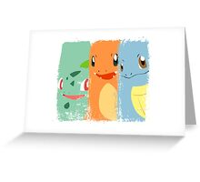Pokemon- The Starters by AronGilli Greeting Card
