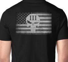 American Flag Skull III Percent  Unisex T-Shirt
