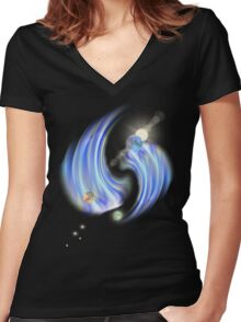 new galaxy1 Women's Fitted V-Neck T-Shirt