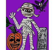 mummy out to lunch halloween Photographic Print