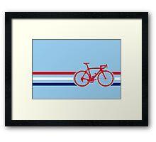 Bike Stripes British National Road Race v2 Framed Print