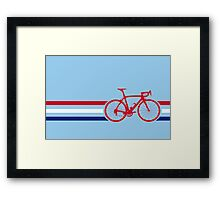 Bike Stripes British National Road Race v2 Framed Print