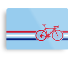 Bike Stripes British National Road Race v2 Metal Print