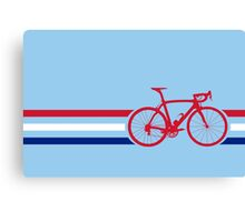 Bike Stripes British National Road Race v2 Canvas Print